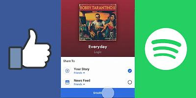 Cara Bagikan Musik Dari Spotify Ke Facebook Stories