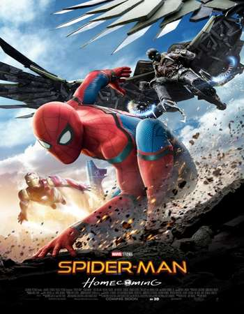 Spider-Man Homecoming 2017 Hindi ORG Dual Audio 600MB BluRay 720p ESubs HEVC