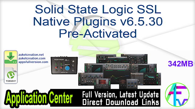 Solid State Logic SSL Native Plugins v6.5.30 Pre-Activated