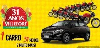 Cadastrar Promoção Villefort Atacadista 31 Anos Aniversário 2019 - Carro e Motos