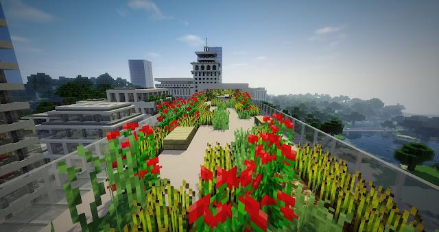 ciudad de minecraft elegante
