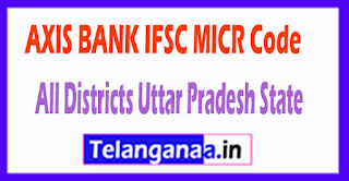AXIS BANK IFSC MICR Code All Districts Uttar Pradesh State