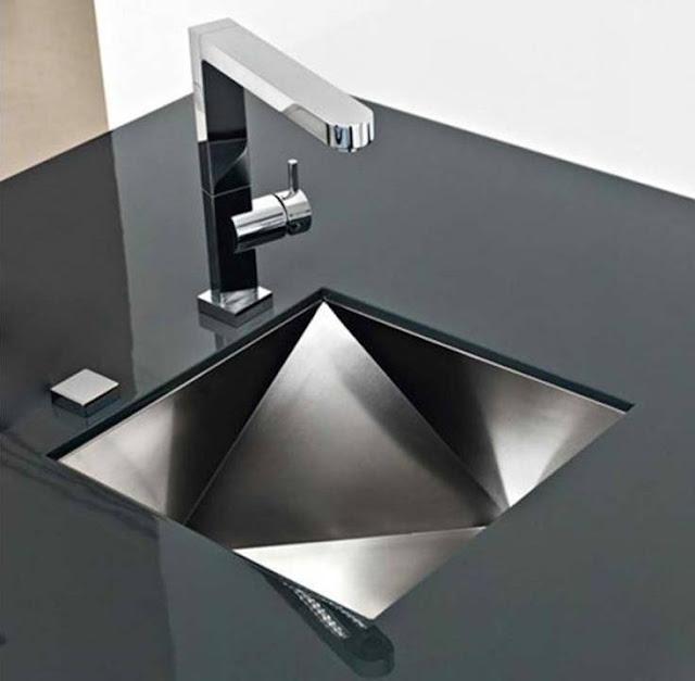 Unique stunning Black kitchen sink