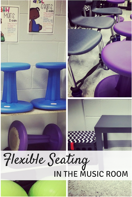Flexible Seating in the Music Room: Great thoughts about why to use flexible seating in your classroom, and which seats to buy!