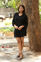 Actress Hebah Patel Stills in Black Mini Dress at Angel Movie Teaser Launch  0059.JPG