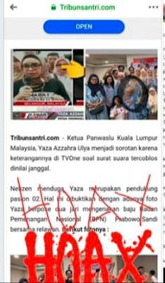Permohonan Maaf kepada Saudari Idawati Murdaningrum dan Yaza Azzahra