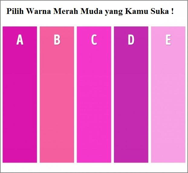 Pilih warna merah muda yang Anda suka.