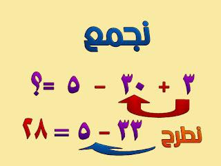 درس رياضيات,الاولوية في العمليات الحسابية 6