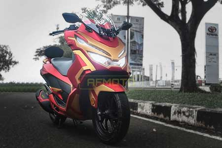 modifikasi pcx 150 ala superhero marvel
