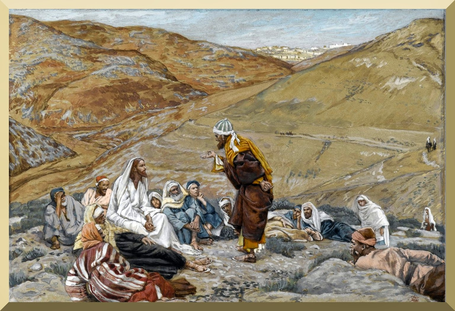 """The Scribe Stood to Tempt Jesus"" -- by James Tissot"