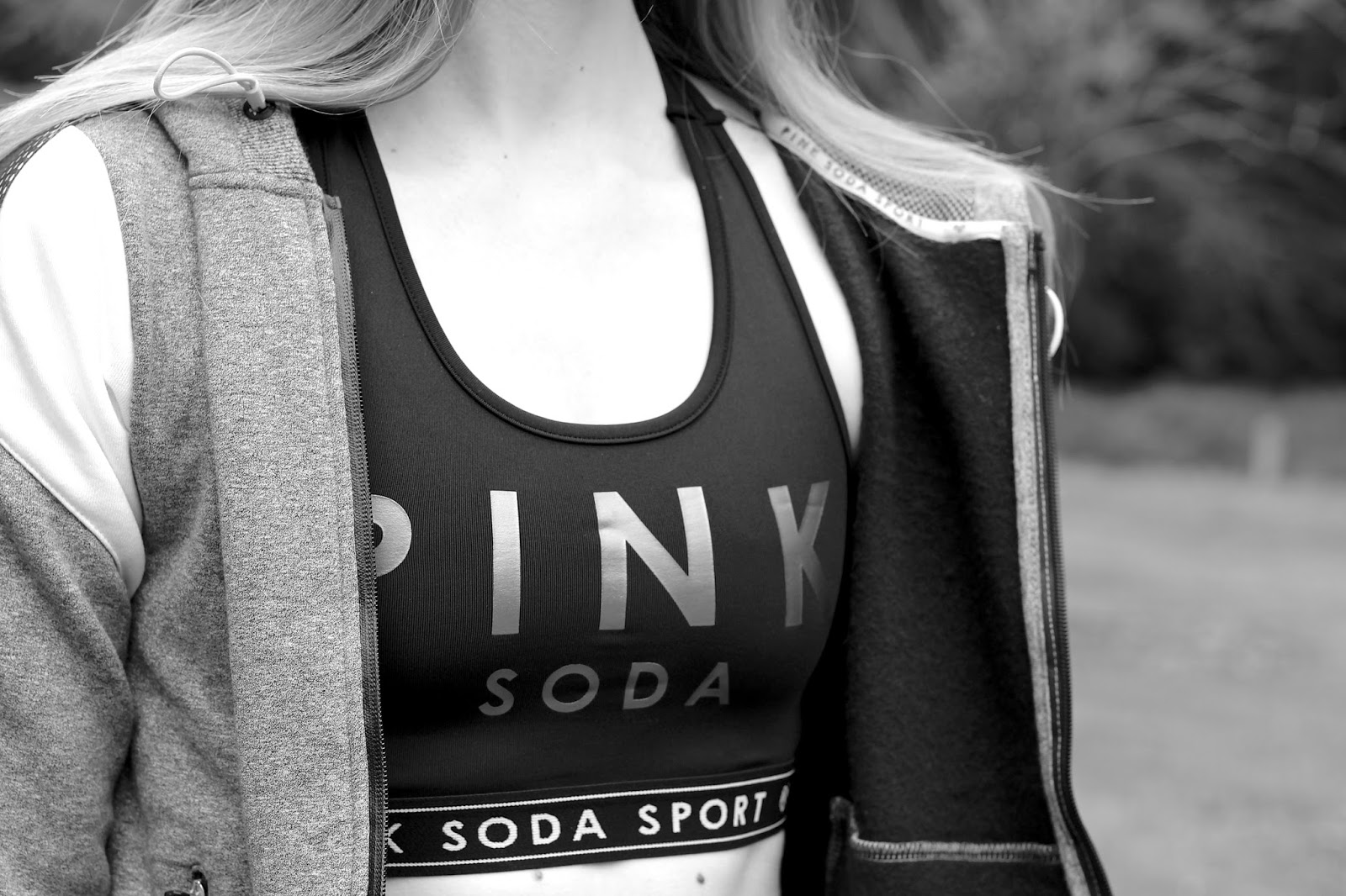 Pink Soda Sport Logo Crop Sports Bra