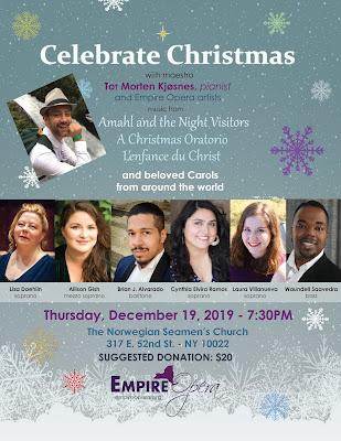 Empire Opera: Reminder: Celebrate Christmas is Next Week, Dec. 19, 7:30 PM