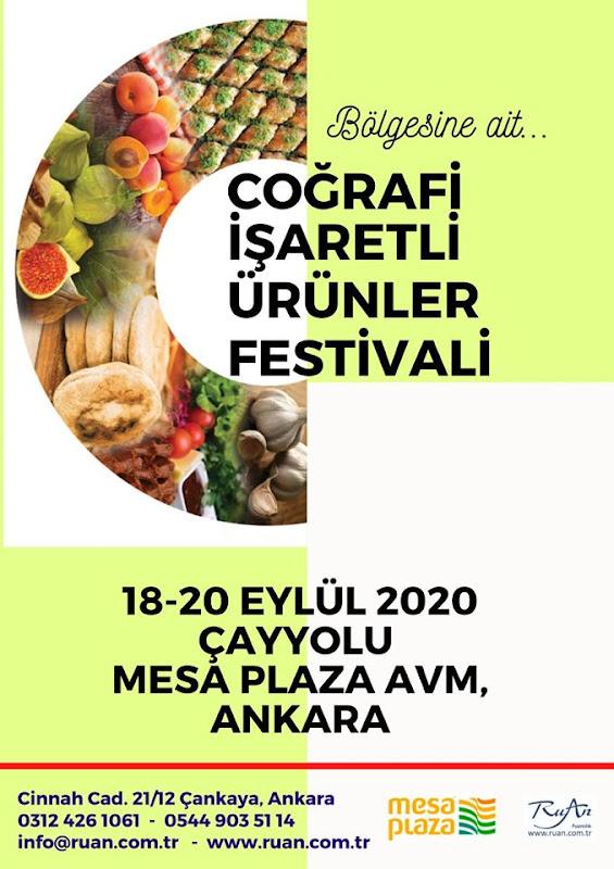 Coğrafi İşaretli Ürünler Festivali 2020