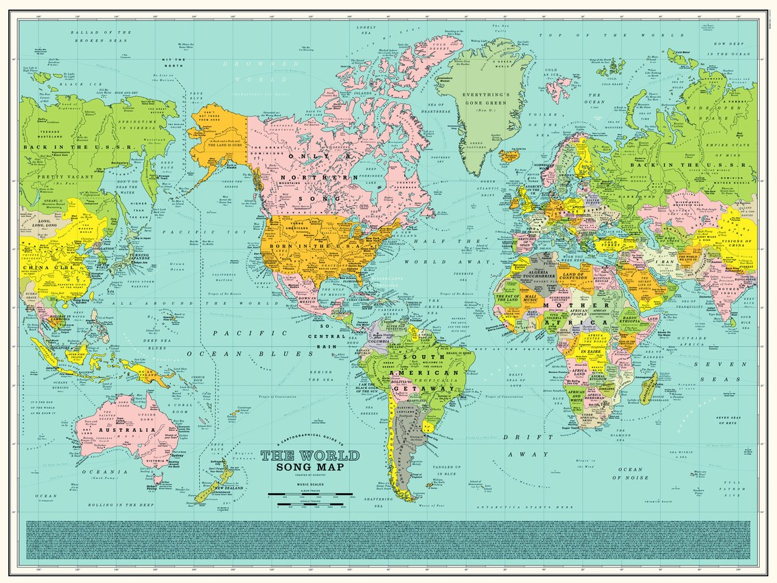 The world song map