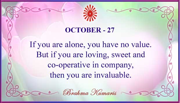 Thought For The Day October 27