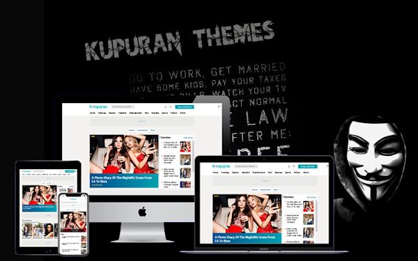 Kumparan News Magazine Blogger Template Free Download