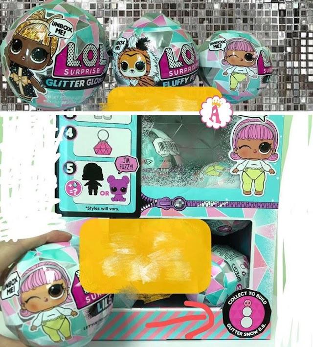 Снежный шар L.O.L. Surprise Glitter Globe с зимними куклами Лол Сюрприз