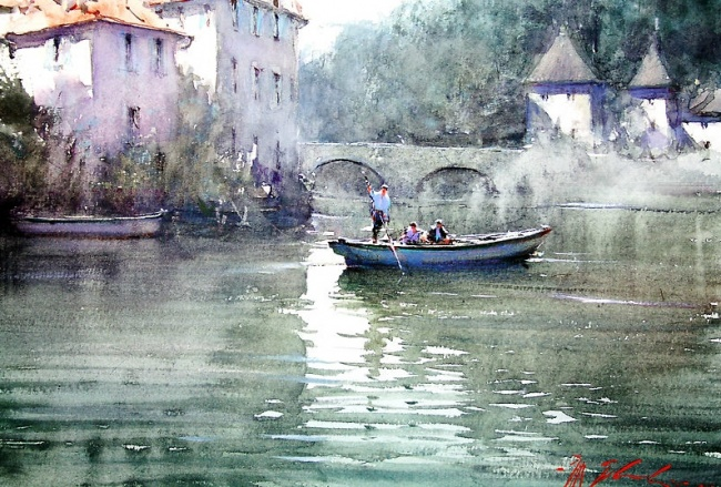 soothing watercolor