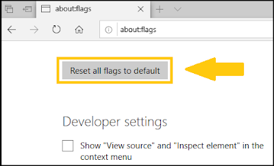 Reset all flags to default