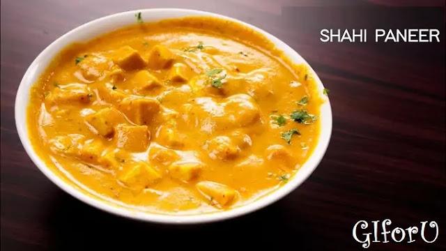Shahi Paneer Recipe-how to make Shahi Paneer Recipe at GIforU