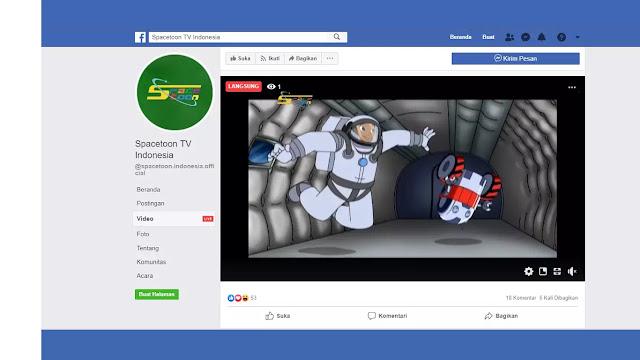 Link Streaming Spacetoon TV Indonesia di Facebook Terupdate