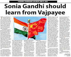 'Sonia Gandhi should learn from Vajpayee' - Article by Satya Pal Jain