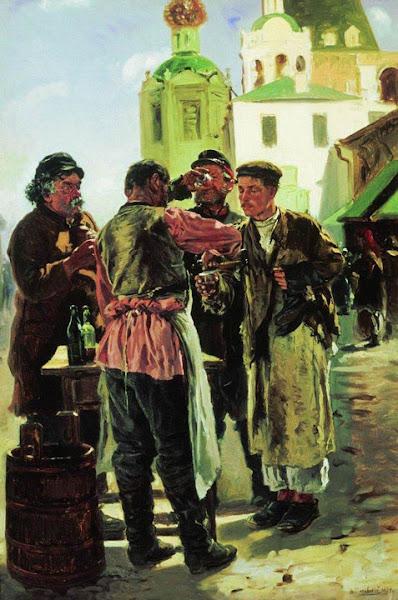 Маковский Владимир Егорович - Продавец кваса. 1879