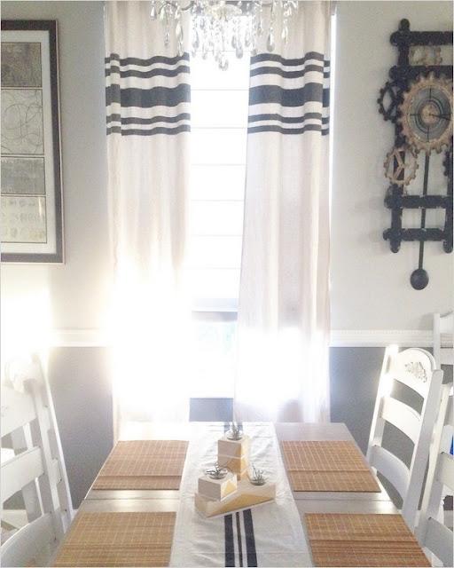 farmhouse kitchen window curtains white black