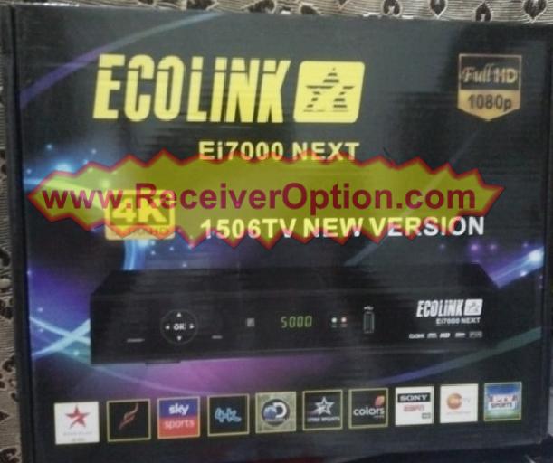 ECOLINK Ei7000 NEXT 1506TV BOARD HD RECEIVER ORIGINAL SOFTWARE