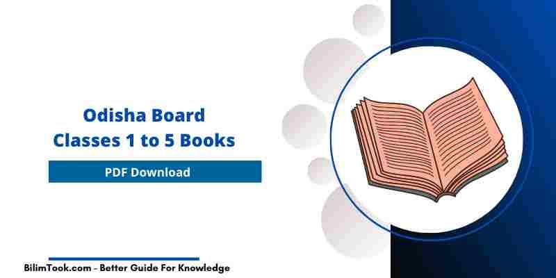 Odisha Board Class 1 to 5 Books PDF Download 2021