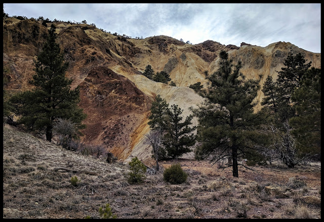 A Yellow Mountain mixed with a rustic Red - Near Big Rock Candy Mountain Utah