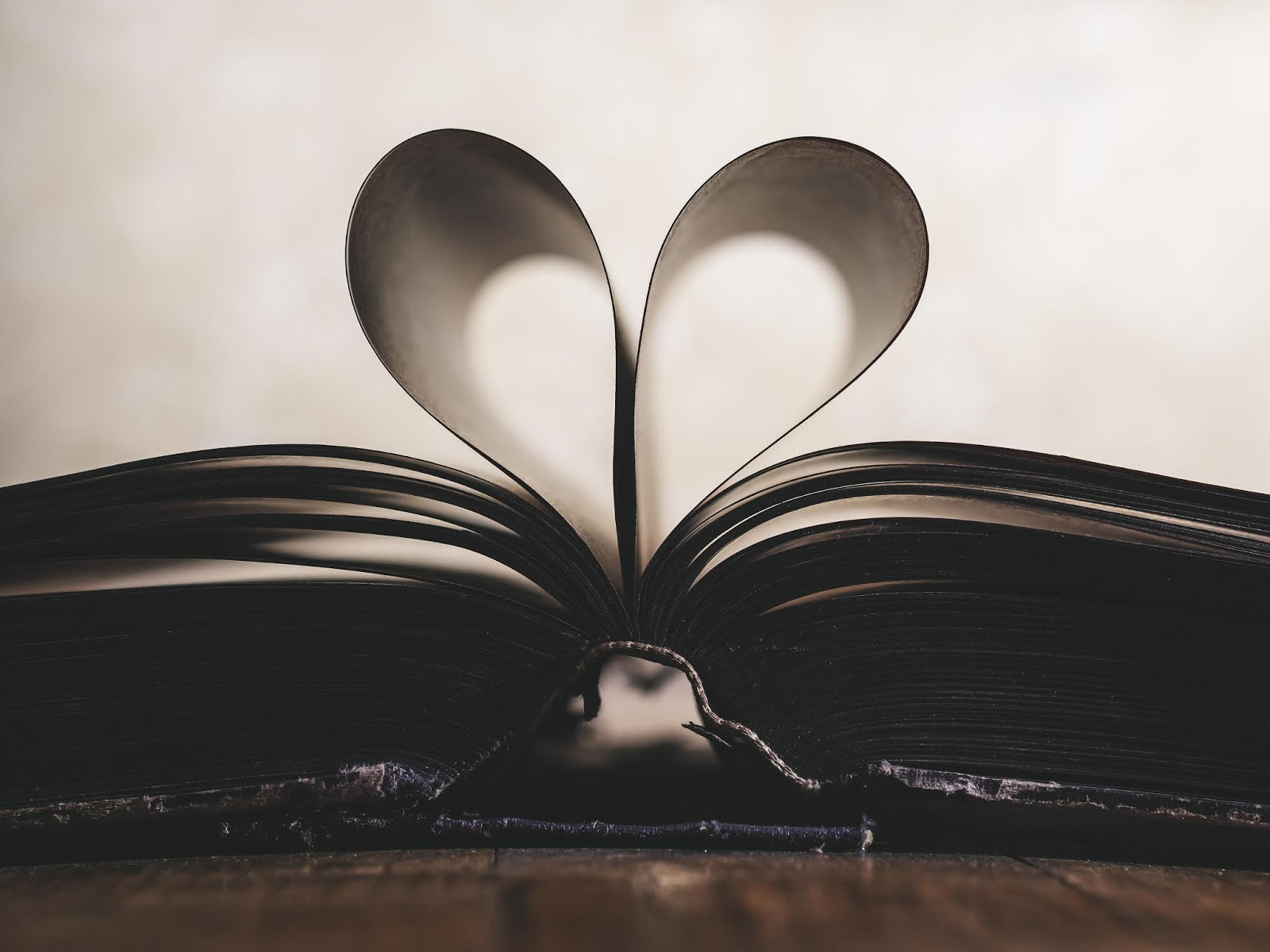 heart shaped book paper image pictures