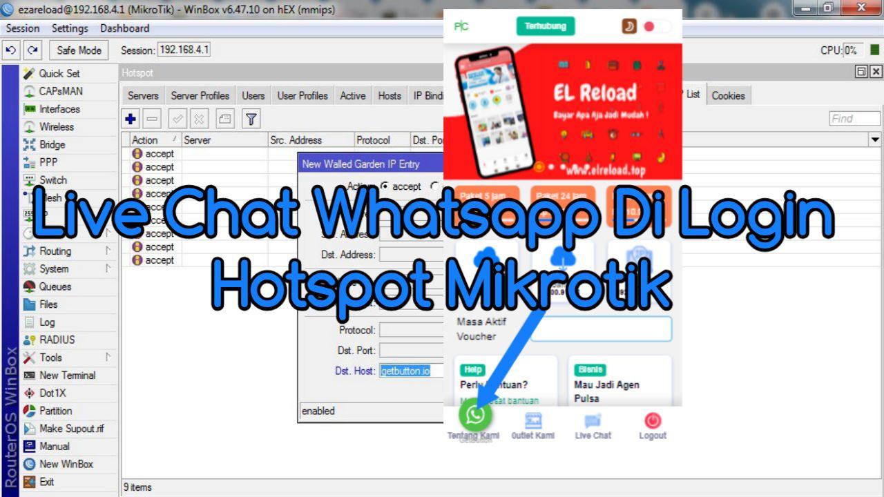 Cara Menambahkan Live Chat Hotspot Mikrotik dengan WhatsApp