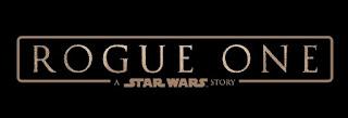 Logo oficial de Rogue One: A Star Wars Story (texto en dos filas, fondo negro y letras claras)