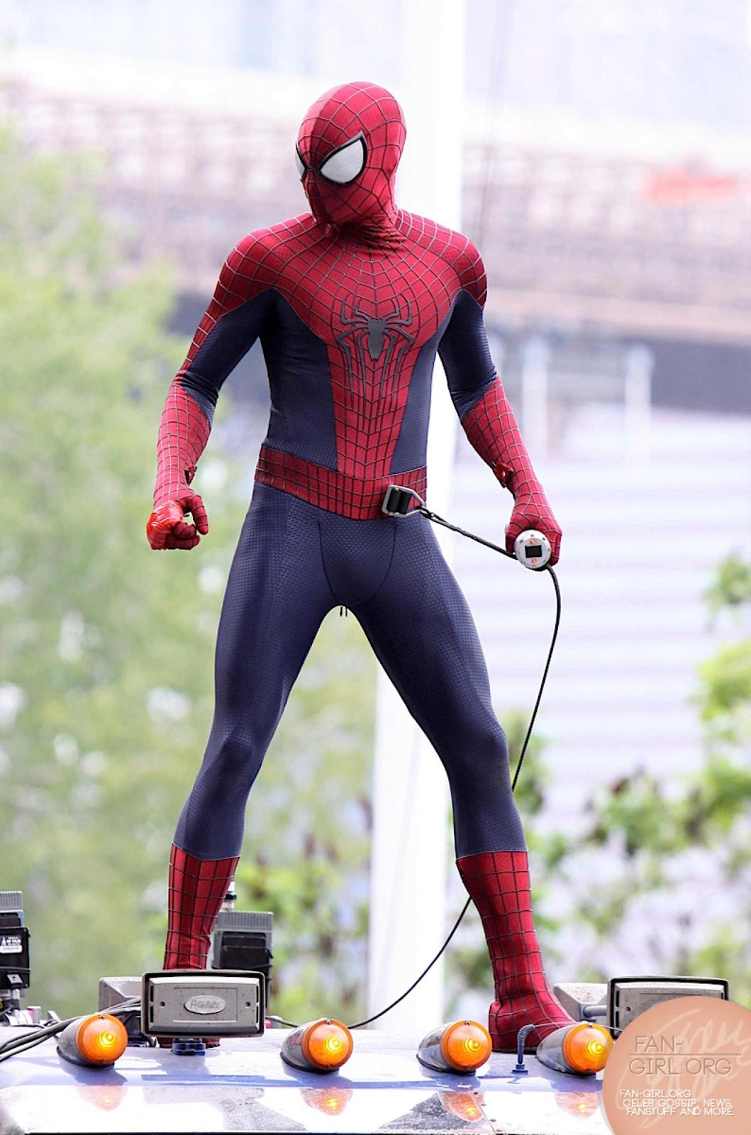 New 'Amazing Spider-Man 2' Set Photos Feature a Pre-CG ... |The Amazing Spider Man 2 Rhino Suit