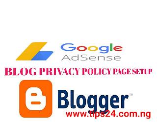 Yadda Ake Generating Na Policy Page Content(Adsense)