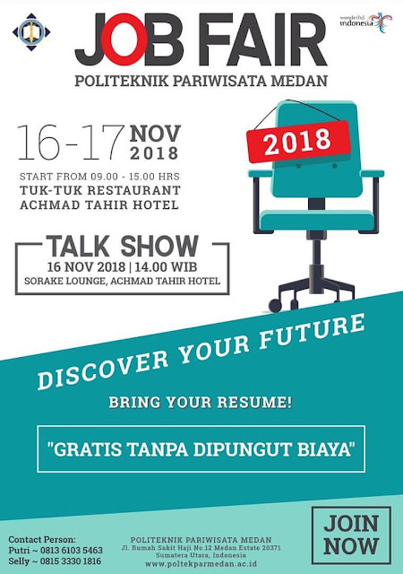 Job Fair & Talk Show di Medan (GRATIS)