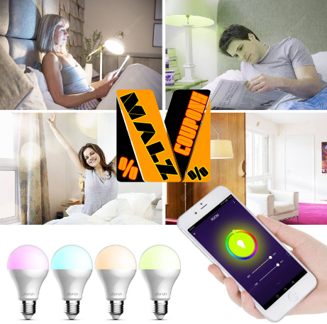 5 E27 Voice Control Smart WiFi Colorful Light Brand Utorch BW  ( Discount 48%OFF )