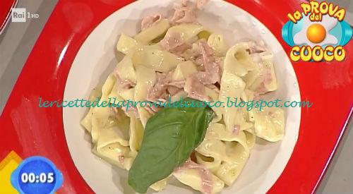 Tagliatelle con prosciutto e robiola ricetta Latagliata da Prova del Cuoco