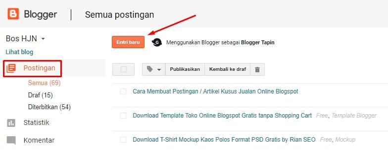 Cara Membuat Toko Online di Blogspot Gratis Terbaru