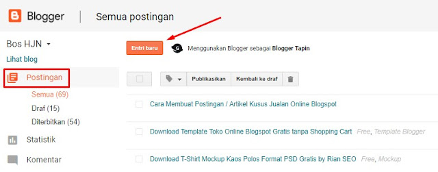 new post produk blogger simple post