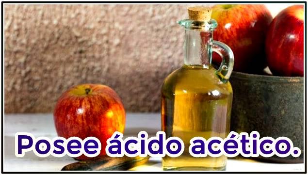 El ácido acético en el vinagre de manzana y su acción benéfica