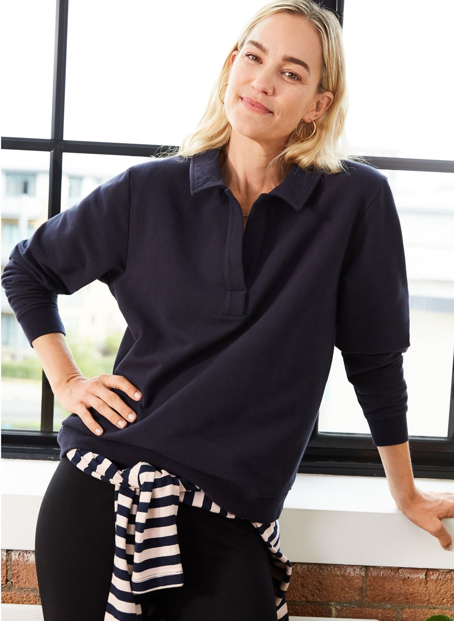 my midlife fashion, Baukjen georgette organic sweatshirt