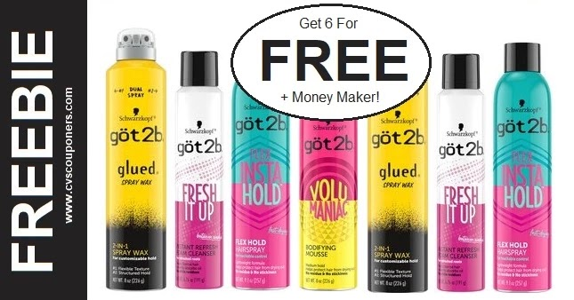 FREE Got2b Hair Stylers at CVS