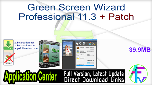 Green Screen Wizard Professional 11.3 + Patch