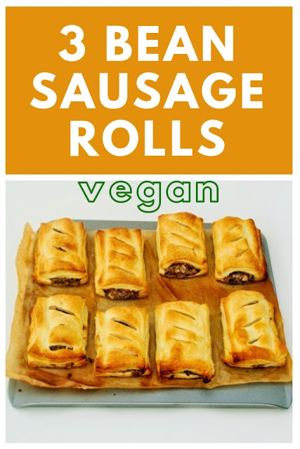 Spicy vegan sausage rolls made with a selection of beans and spices all bound up in golden and flaky puff pastry. Perfect for back to school lunchboxes. #backtoschool #vegansausagerolls #lunchboxrecipes #easylunchbox #beans #vegetariansausagerolls #puffpastryrecipes #puffpastry