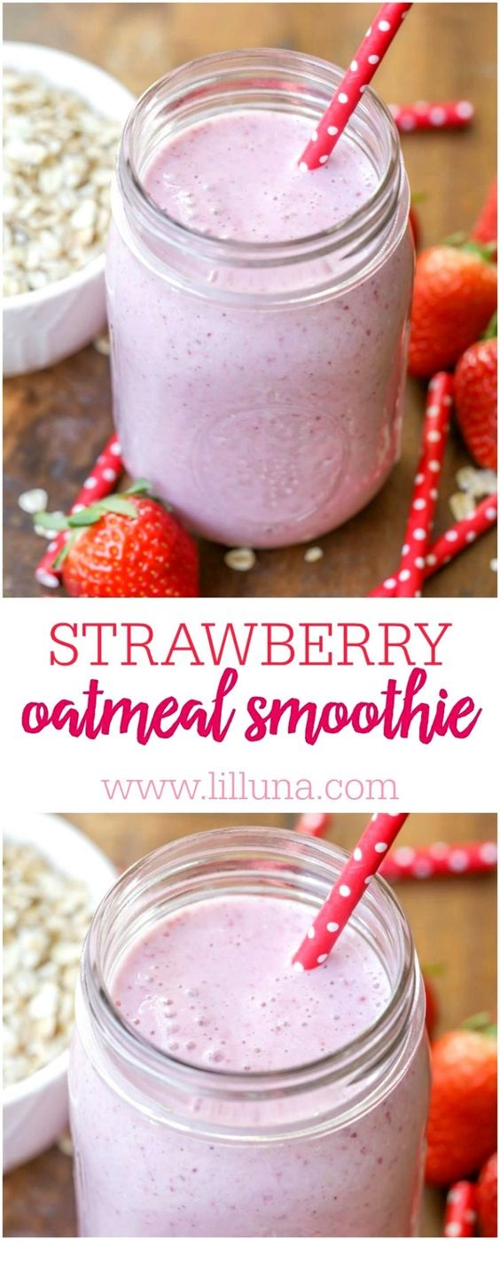 Strawberry Oatmeal Smoothie Recipe