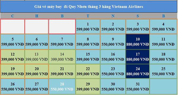 Vé máy bay giá rẻ đi Quy Nhơn tháng 3