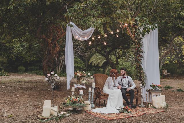 decoracion boda boho otoño