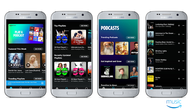 Amazon Music, Best free music streaming app for Android